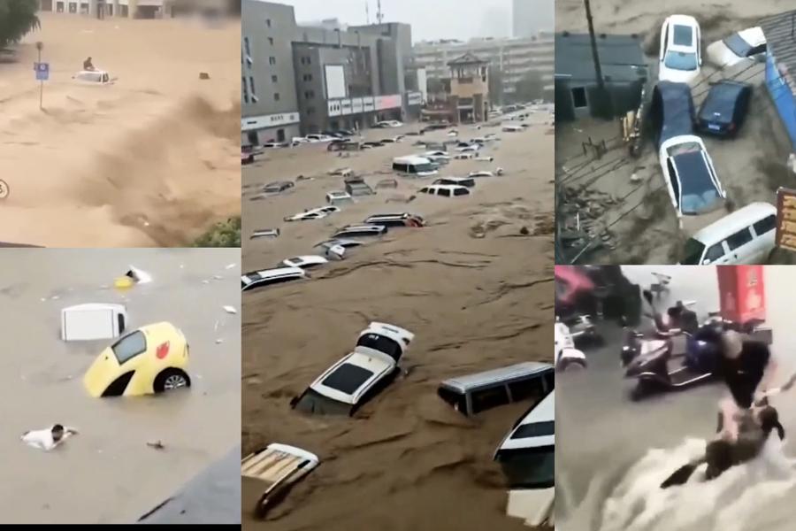 鄭州大水漫灌 市民慘死或被捲走(多影片)