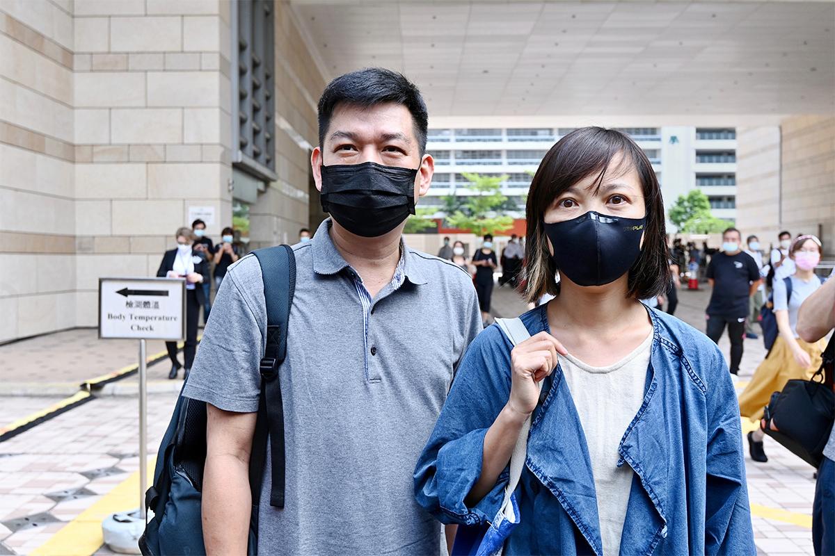 《蘋果日報》前副社長陳沛敏(左)及前主筆馮偉光昨日遭撤銷保釋再度被捕,前執行總編輯林文宗(右)亦被警方國安處拘捕。(大紀元資料圖片)
