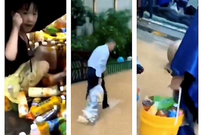 康師傅雨中被解囊 三十萬瓶飲料衝上街 市民瘋搶