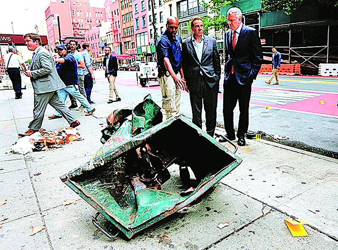土製炸彈威力也相當驚人。(Getty Images)