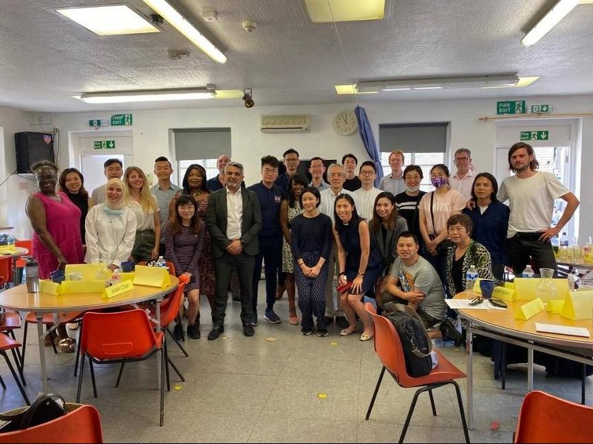 多個港人組織日前與倫敦副市長班尼特會面,討論港人在當地融入社區的問題。 (鄭文傑提供)