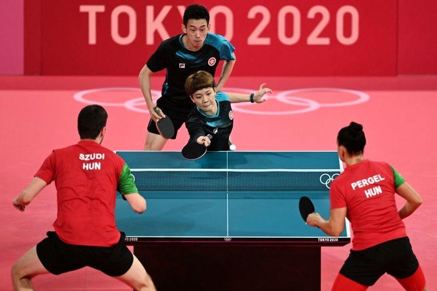東奧7.24 港隊16強混雙乒乓球4比0大勝匈牙利 明戰法國
