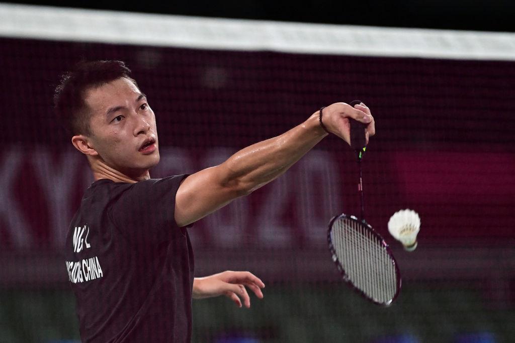 東奧賽事今(7月24日)繼續舉行第四天賽事,香港男單羽毛球以2比0勝墨西哥。(PEDRO PARDO/AFP via Getty Images)