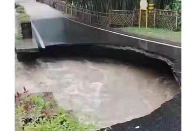「煙花」將至 浙江暴雨山洪齊發 路坍塌 交通癱瘓
