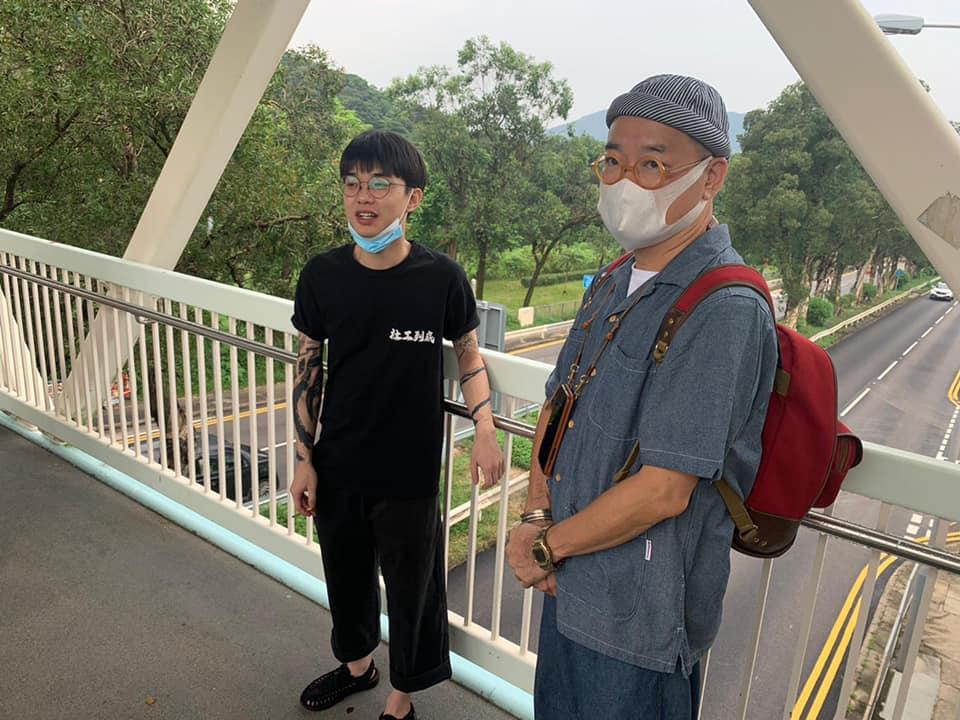 邵家臻Facebook貼文表示迎接劉家棟出獄。(邵家臻Facebook)