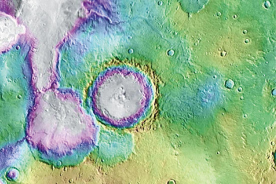 最新研究顯示,火星上水的存在或許比人們過去設想的要更晚。這一發現增加了這個紅色星球上可能有微生物生命的概率。(NASA)