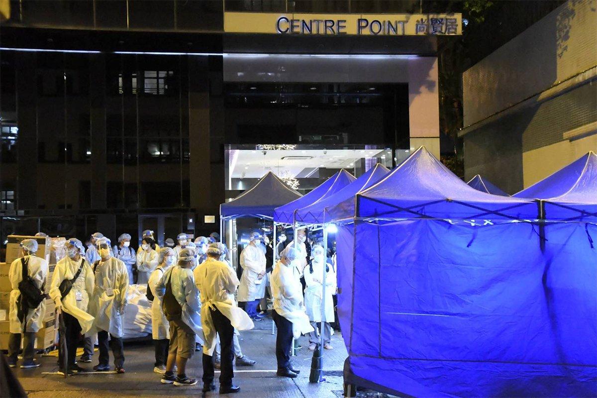 一名L452R變種病毒感染個案曾出現在港安醫院,衛生署昨(24日)公告相關人士需要進行強制檢測。(麥碧/大紀元)