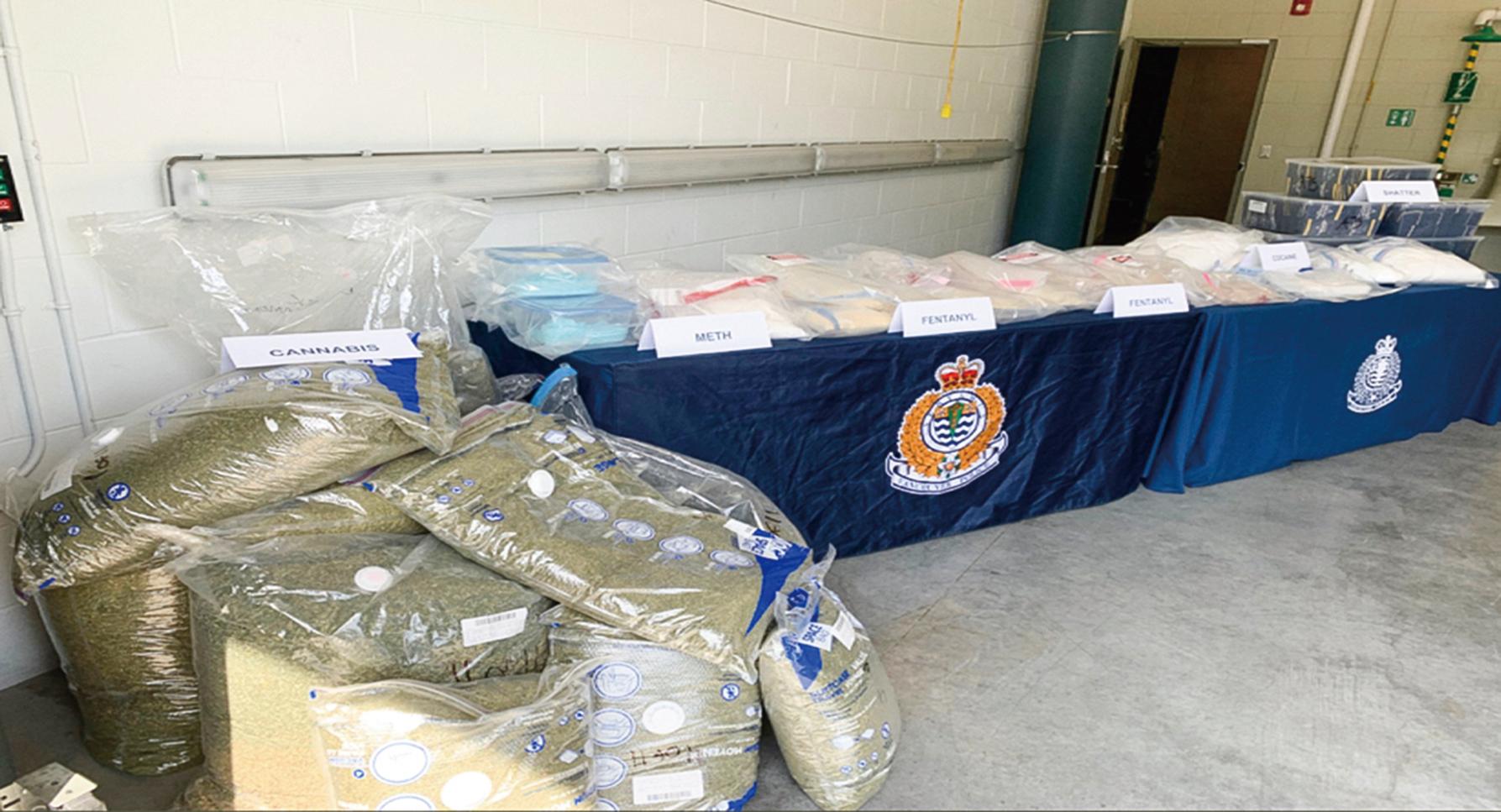 為溫哥華警局 2020 年 5 月份繳獲的價值 300 多萬的芬太尼。(溫哥華警局)