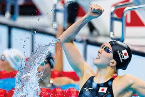 日女子大橋悠依混合泳400米奪金