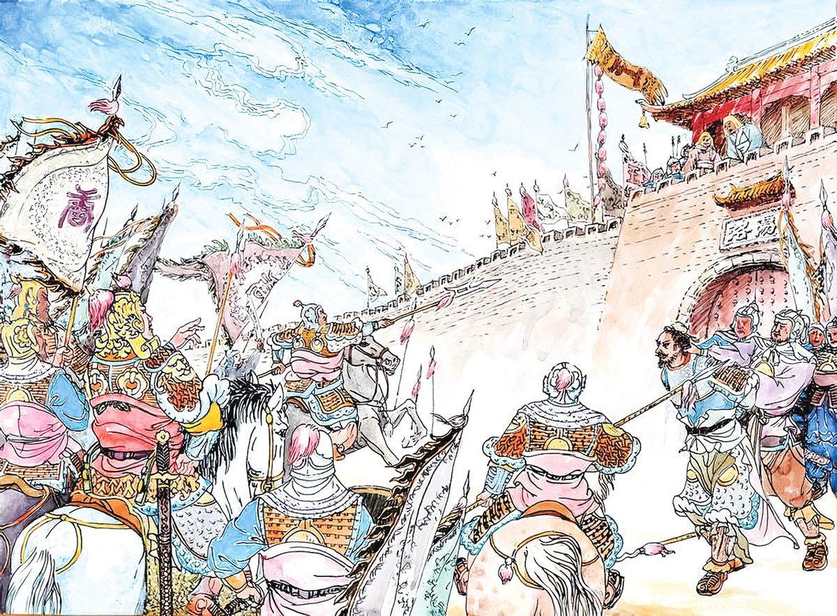 唐朝中後期時有節度使叛亂,亂局中,李皋起到了定海神針的作用。(曹醉夢製圖 / 大紀元)