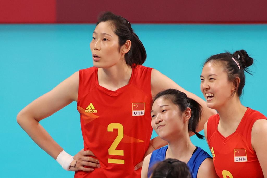 中國女排身穿Adidas球衣出戰東京奧運。 (Photo by Toru Hanai/Getty Images)
