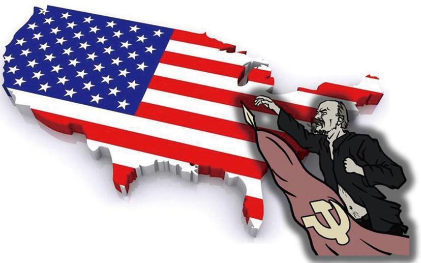 共產主義把美國作為滲透和顛覆的主要目標,悄然控制了政治、經濟、文化、教育、媒體,加緊準備著最後的致命一擊。(大紀元製圖)