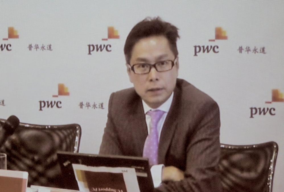 羅兵咸永道中國金融業主管合夥人梁國威,預期下半年不良貸款率將有機會升至1.8%至2%之間。(余鋼/大紀元)