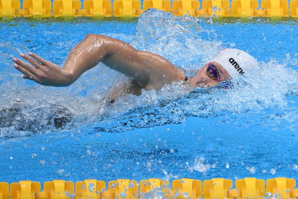 香港游泳隊宣佈棄戰女子4X200米自由泳接力預賽讓何詩蓓休息,在個人100米再衝擊獎牌。 (Photo by ATTILA KISBENEDEK/AFP via Getty Images)