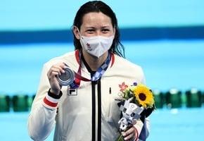 港「女飛魚」何詩蓓200米自由泳奪得銀牌
