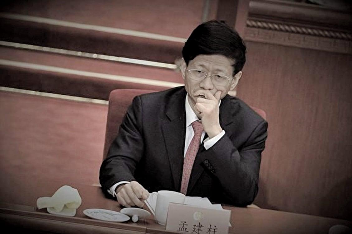 中共前政法委書記孟建柱已有多名政法系及江西幫舊部落馬。(WANG ZHAO/AFP)
