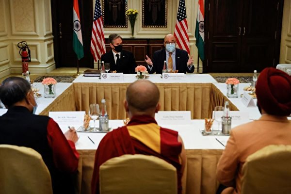 拜登全場緊逼對付中共 布林肯訪印見達賴喇嘛代表