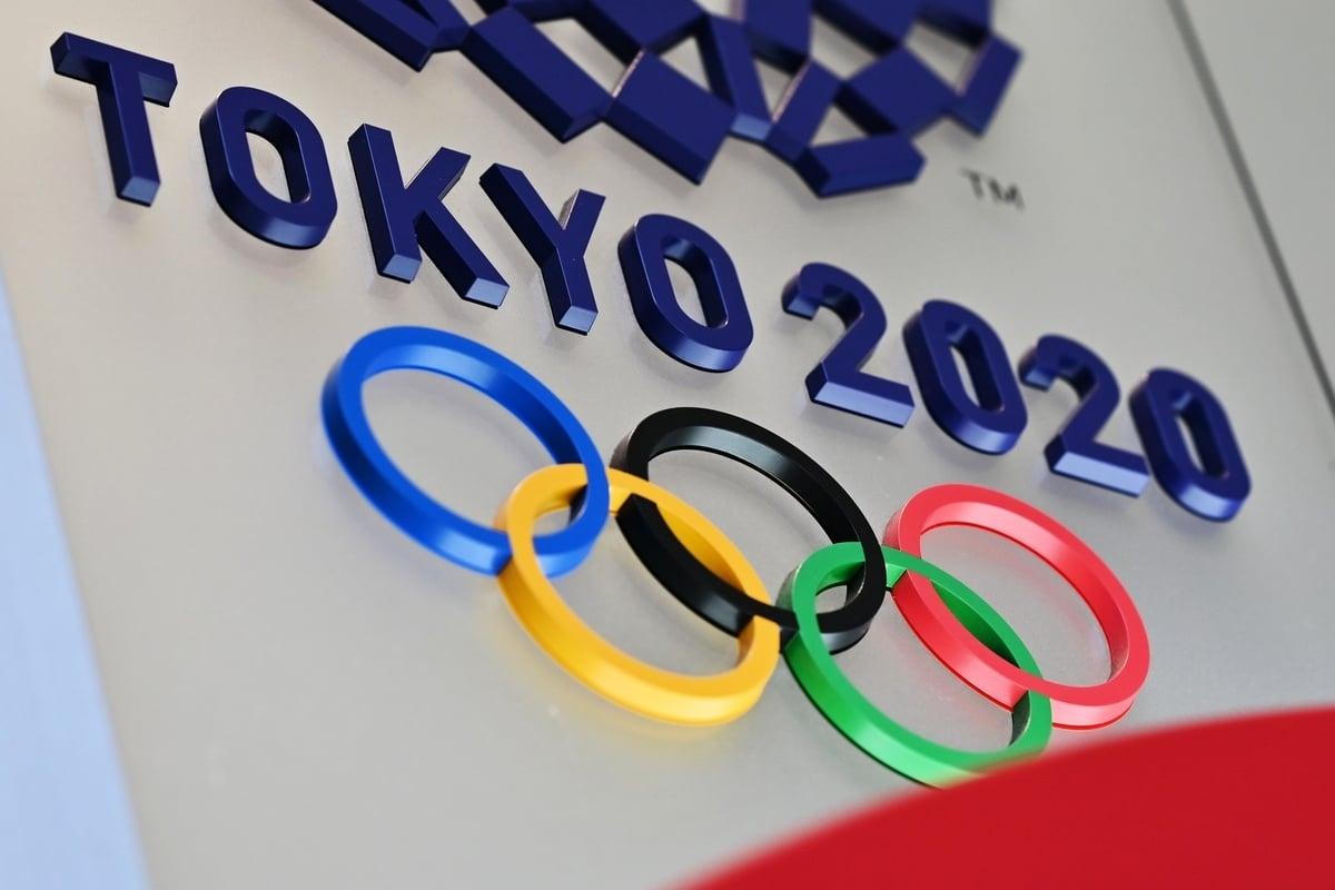 東京奧運會上,NHK轉播中把「中華台北」改稱為「台灣」隊,受到歐美多國響應。東奧組委會回應,進場順序是根據台灣的台,非「台北」的台。圖為受疫情延一年的東京奧運標誌。(CHARLY TRIBALLEAU/AFP )