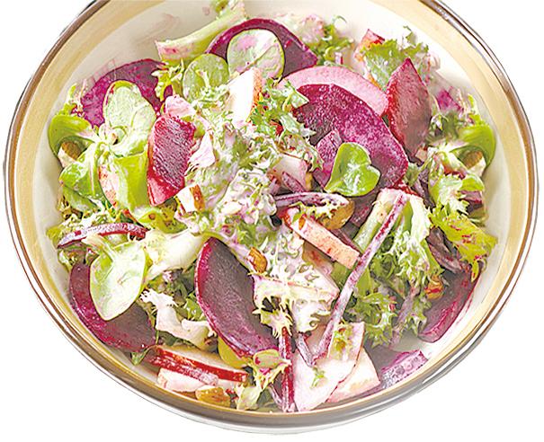 甜菜根非常適合製成沙律。