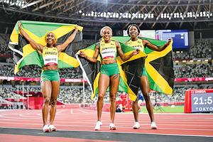 牙買加女飛人攬百米跑前三名 湯普森破奧運百米賽跑紀錄