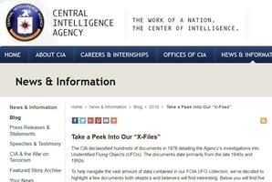《X檔案》回歸 CIA解密UFO檔案