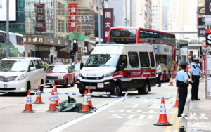外籍男子旺角墮樓 倒臥彌敦道交通受影響