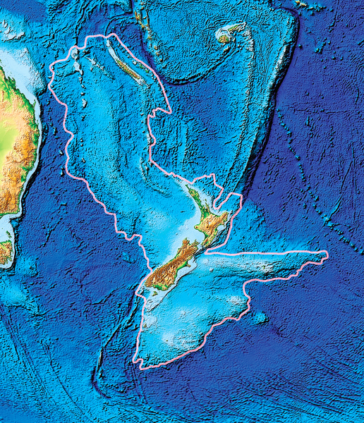 新西蘭地底下 發現失落的大陸