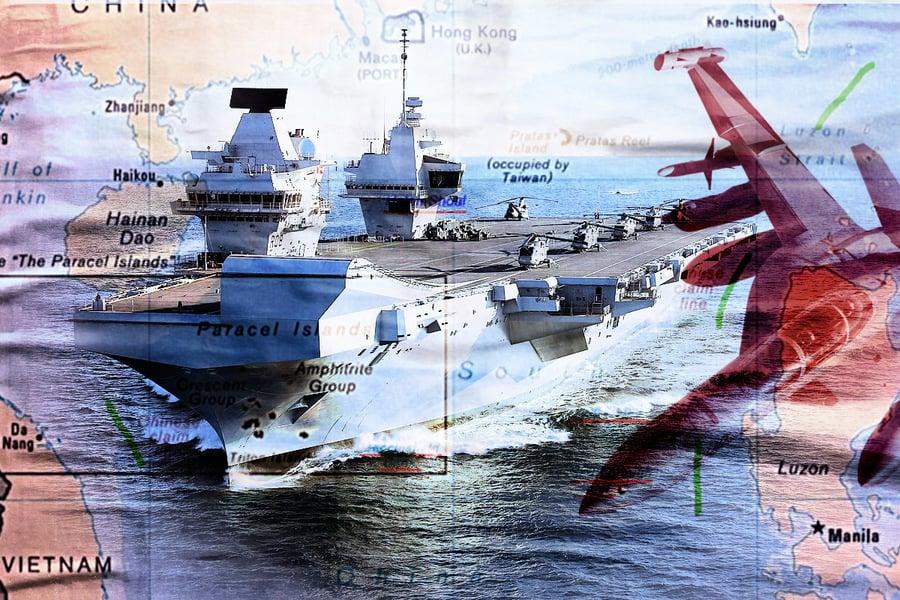 【軍事熱點】英航母編隊進入南海 J-15也想來湊熱鬧