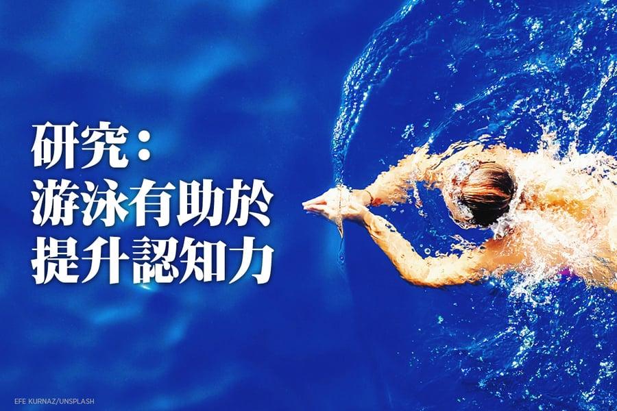 研究:游泳有助於提升認知力