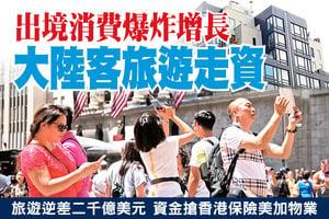 出境消費爆炸增長 大陸客旅遊走資