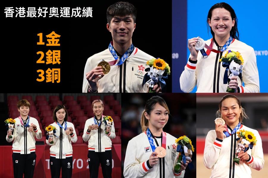 東奧8.8|香港奪6面獎牌 創最好成績