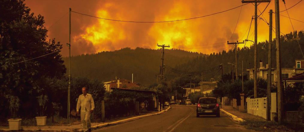 嚴重熱浪襲希臘 野火燃燒進入第五天