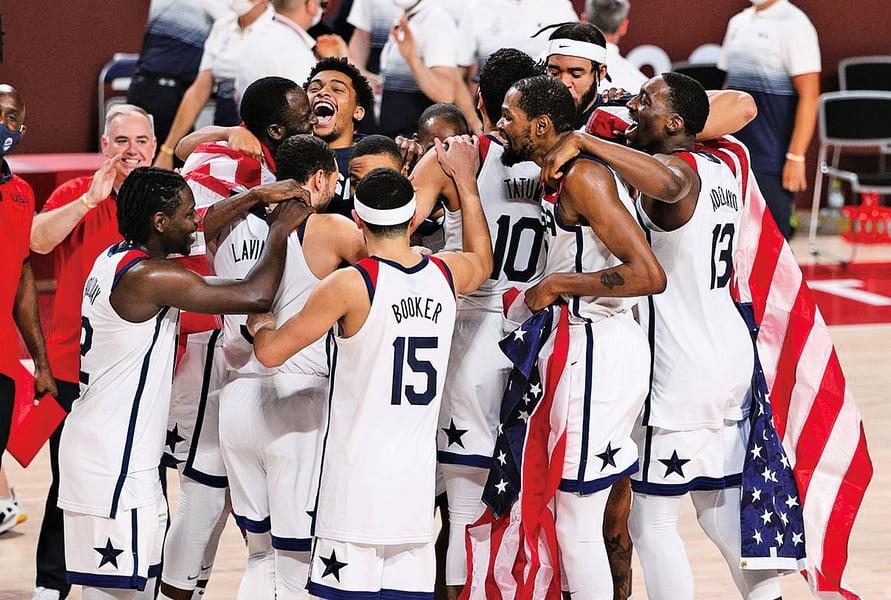 東京奧運會男籃決賽 美擊敗法國隊獲四連冠