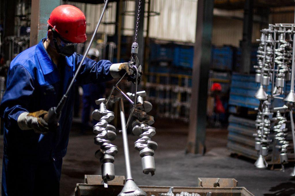大陸今(8月9日)公布工業生產者出廠價格,7月同比上漲9.0%。(STR/AFP via Getty Images)