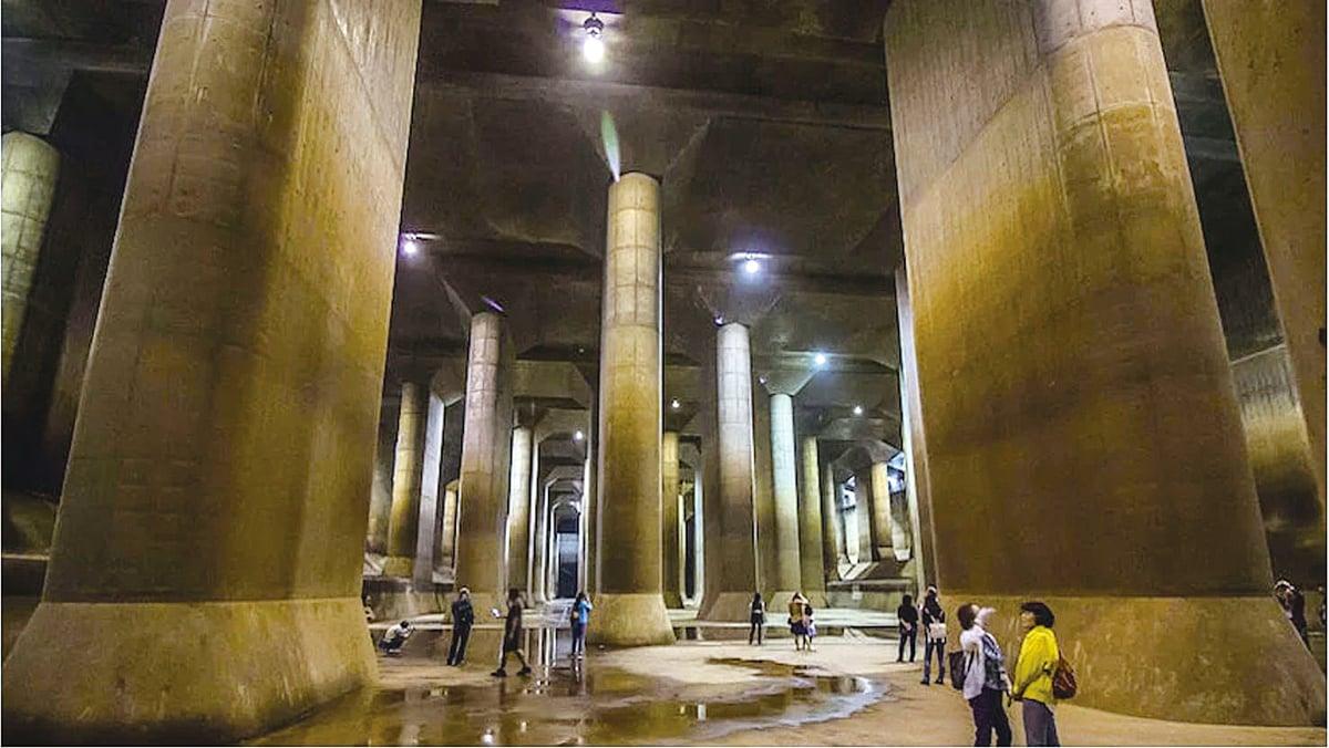 日本東京郊外的地下巨型蓄水池,也被稱作「地下宮殿」 (John S Lander/LightRocket via Getty Images)