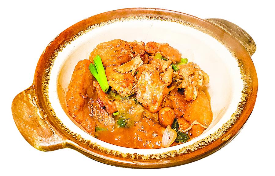 【梁廚美食】魚肚冬菇炆雞