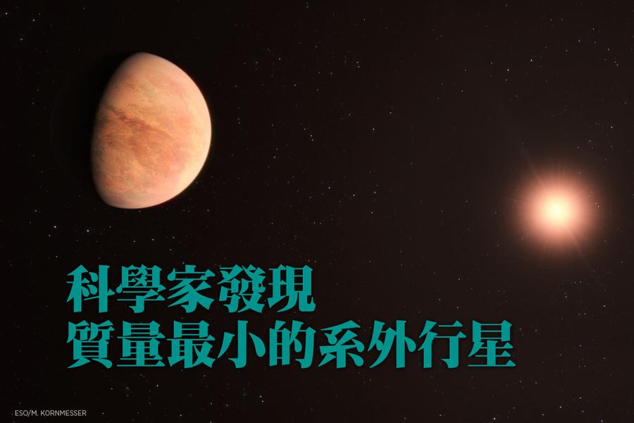 科學家發現質量最小的系外行星