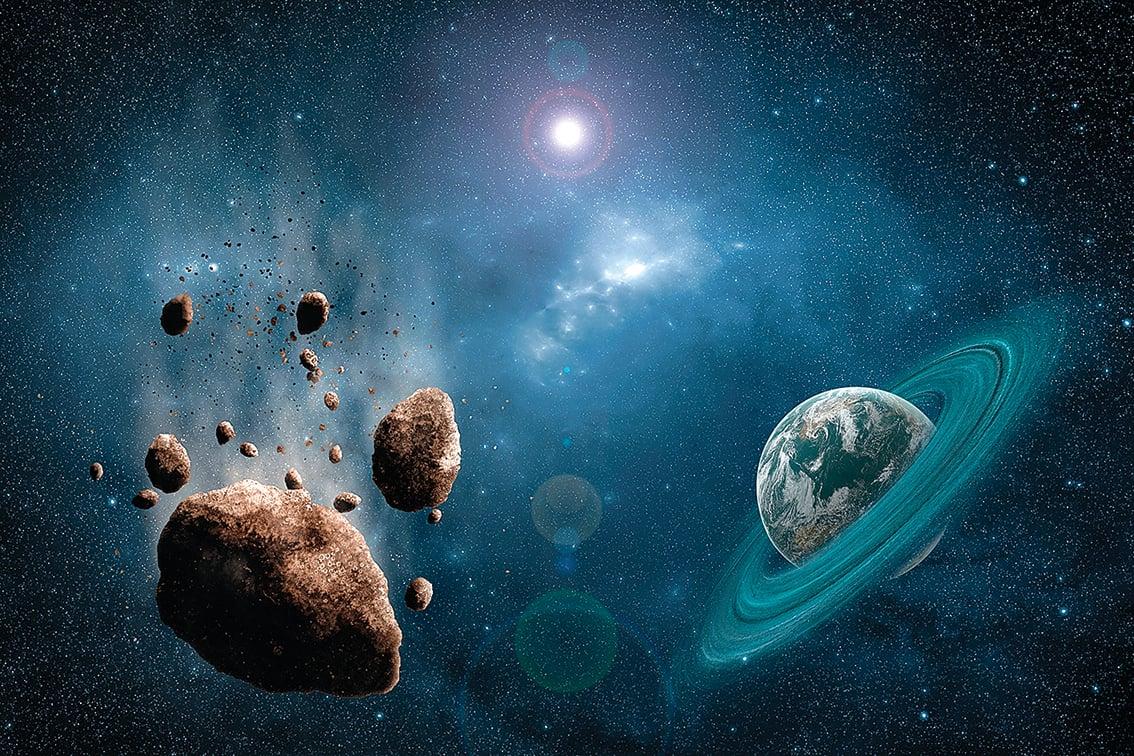 太陽系小行星帶示意圖。(Shutter Stock)