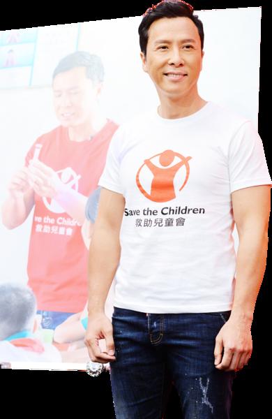 甄子丹探訪貧困兒童  期待新戲和華仔合作