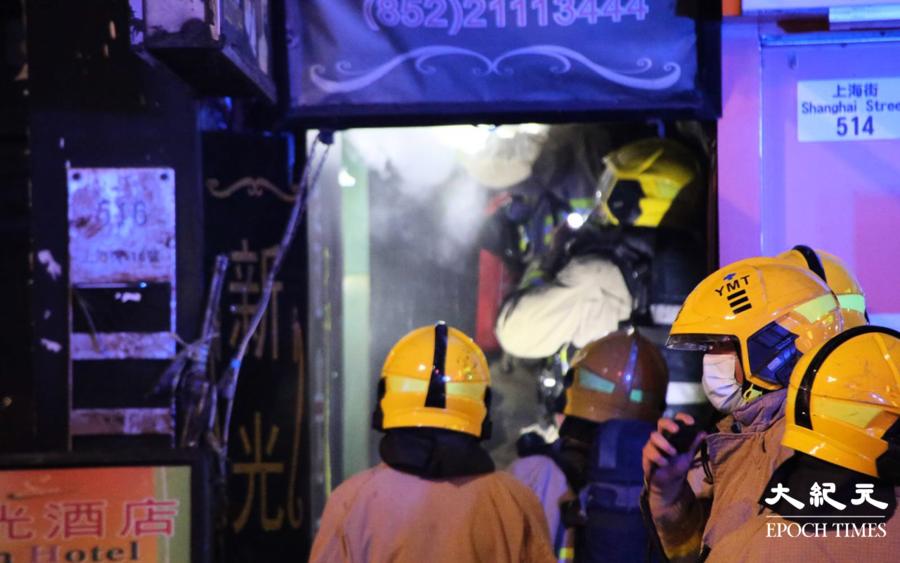 【突發】凌晨唐樓電錶箱爆炸引發火警