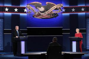希拉莉特朗普辯論針鋒相對 犀利金句對比