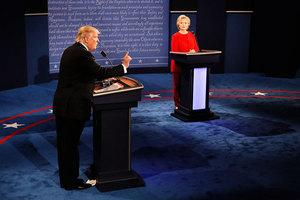 美媒談特朗普希拉莉首場辯論優劣表現