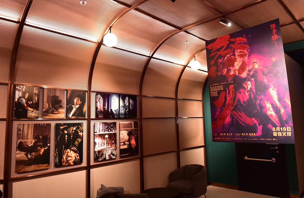 尖沙咀英皇戲院iSQUARE正舉辦為期大約兩周的「《怒火》不息劇照展」。(英皇提供)