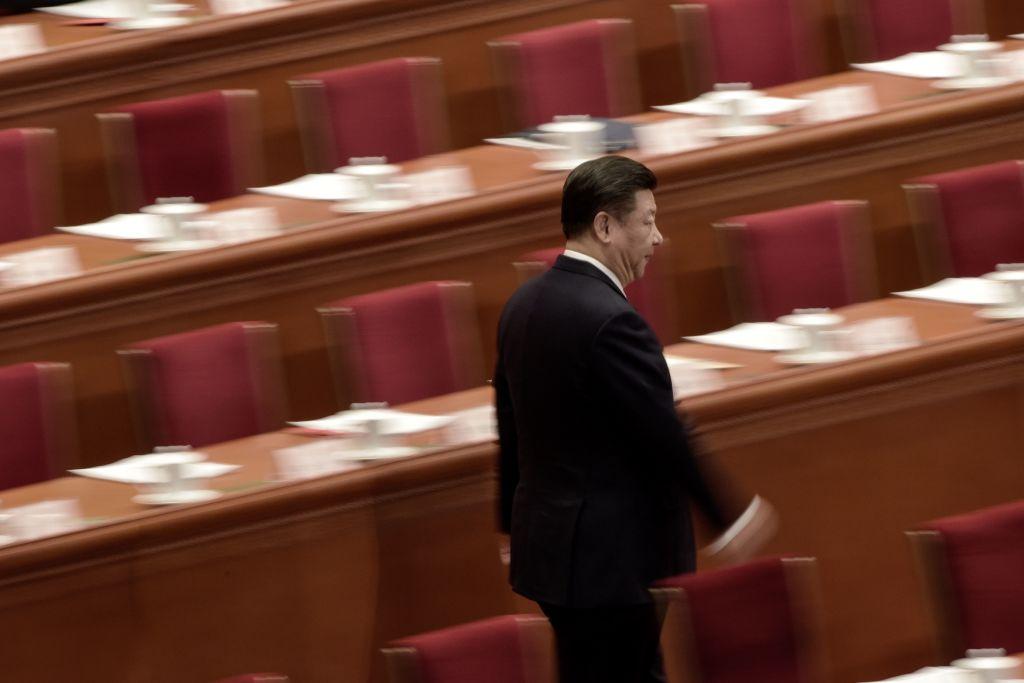 中共北戴河會議後,官媒和習陣營人馬近日大肆炒作中共總書記習近平所提出的所謂「全過程民主」說法。此說法由習近平在2019年11月所提出,當時曾引發外媒熱議,質疑中國是否有民主。圖為習近平。(FRED DUFOUR/AFP via Getty Images)