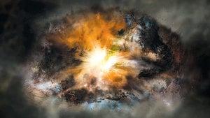 最亮星系正在將自己「碎屍萬段」