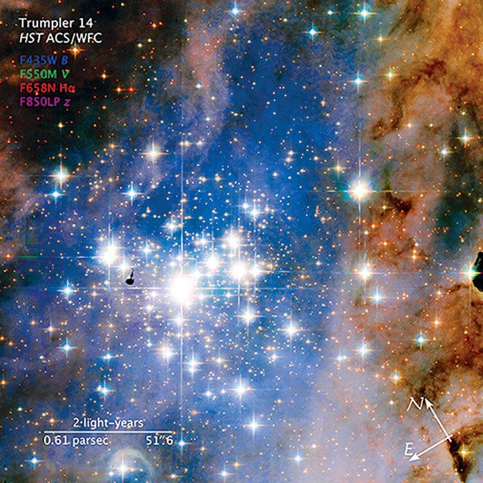 哈勃觀測太空「鑽石團」景觀奇美壯麗