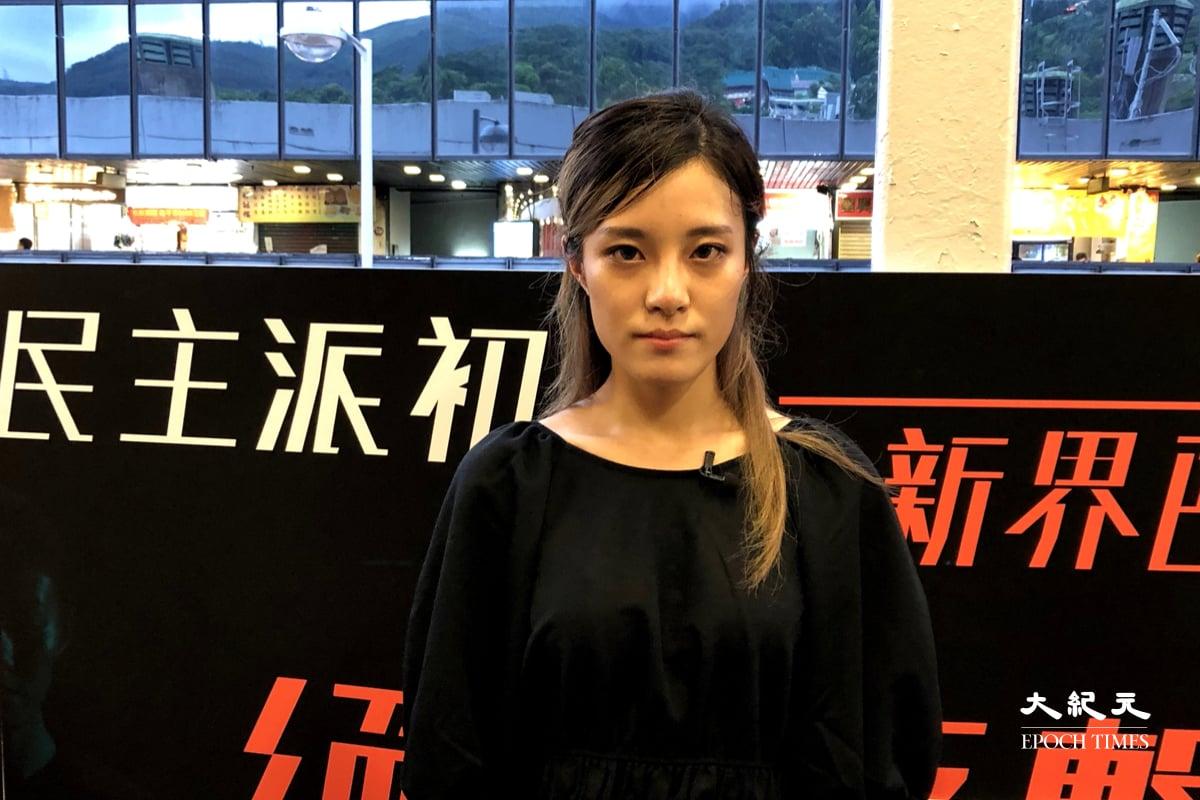 2019年11月18日大批市民在理大外聲援校內示威者,包括前學民思潮發言人黃子悅在內的15人被控暴動,案件今日(26日)在區域法院提訊。(張曉慧/大紀元)