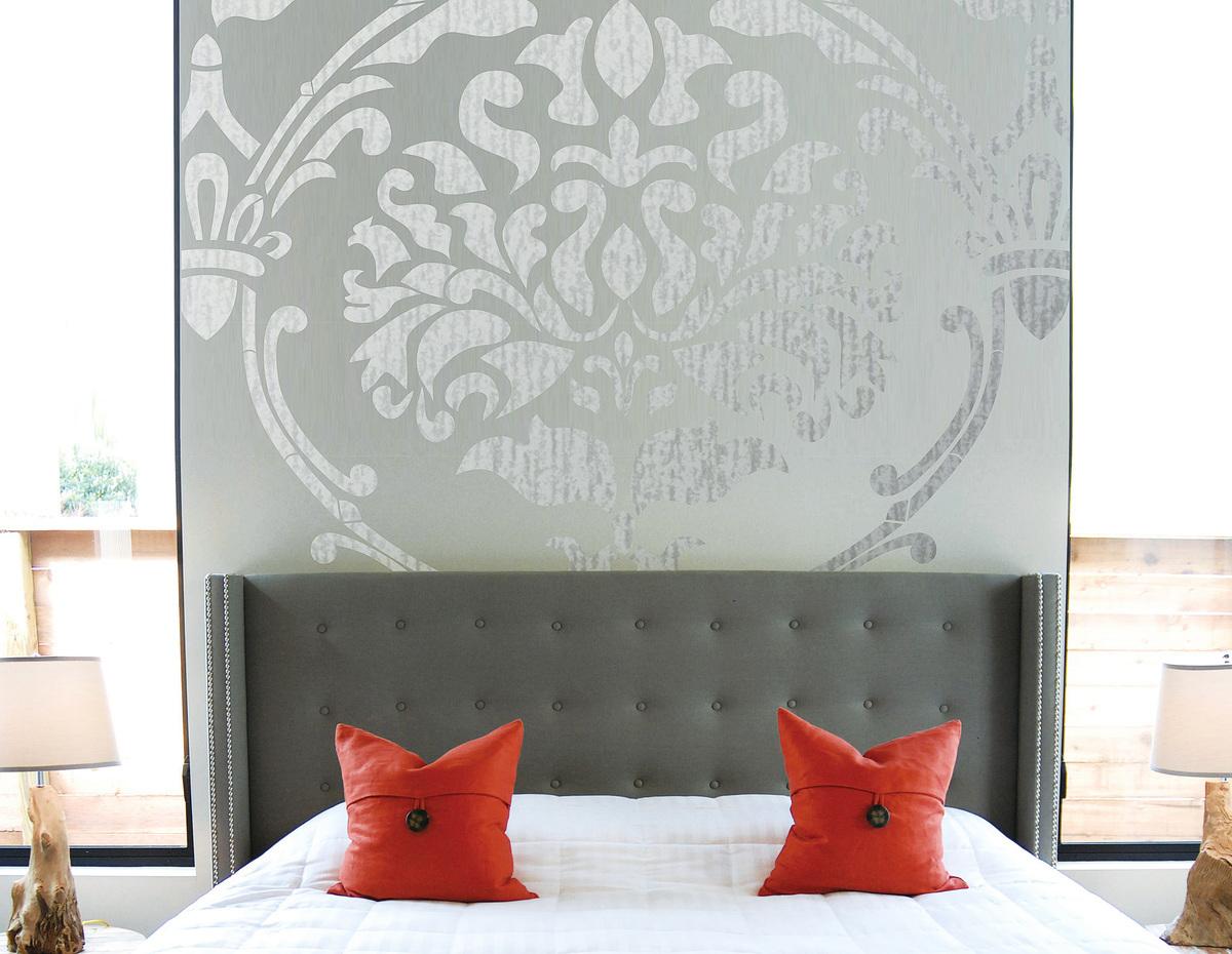牆面的印花為家居增添一份華麗色彩。(網絡圖片)