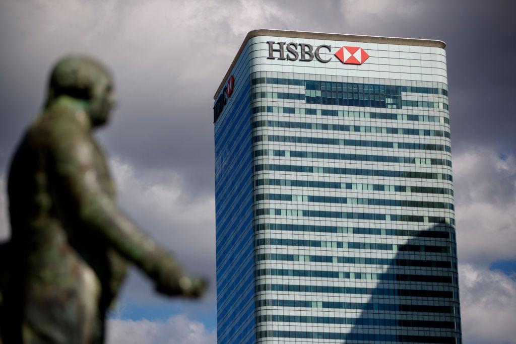 「香港監察」呼籲英國政府正視BNO港人被拒領強積金問題,並向總部設在英國的滙豐銀行施壓。(TOLGA AKMEN/AFP via Getty Images)