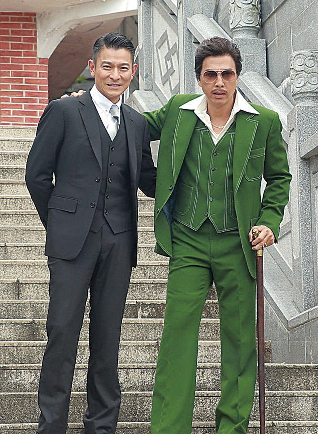 劉德華和甄子丹為新片《追龍》舉行開鏡儀式。(網絡圖片)